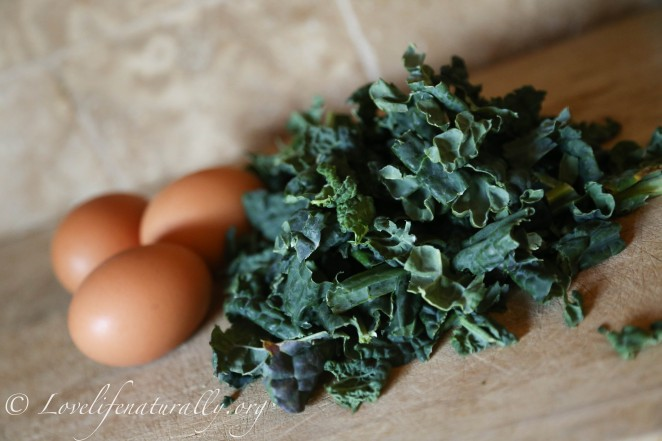 kale and eggs recipe