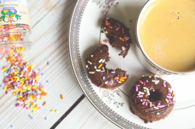 Chocolate paleo donuts
